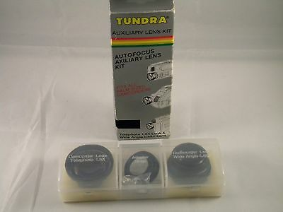 TUNDRA~AUXILIARY LENS KIT ~TELEPHOTO 1.5x & WIDE ANGLE 0.65x Lens