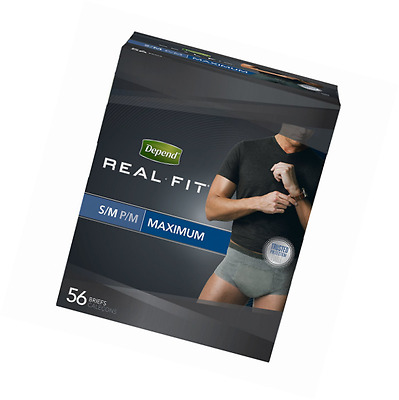 Depend Real Fit For Men Briefs, Small/Medium