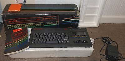Sinclair Spectrum +2 grey vintage computer boxed with PSU & manual - WORKING