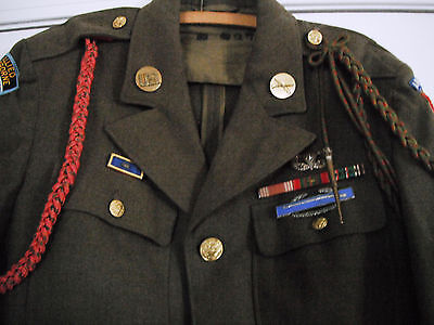 WW2 ORIG. PARATROOPER 82nd AIRBORNE TUNIC,BRITISH MADE JUMP WINGS 505th PIR ID'd