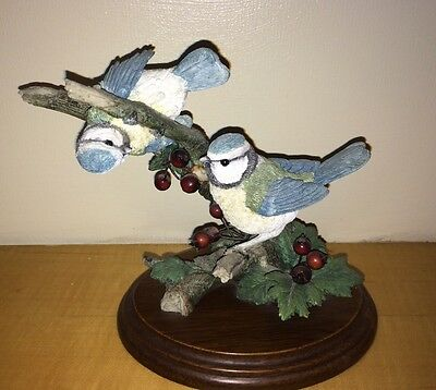 Country Artists Bluetits With Hawthorne Berries