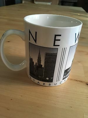 Retired Starbucks New York Ceramic City Mug 2003 Black & White
