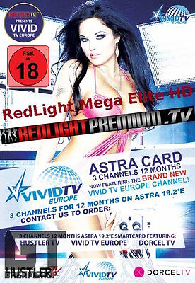 Redlight Mega Elite HD Viaccess Card 12 Monate 16 Sender auf 19,2° & 13° FSK 18