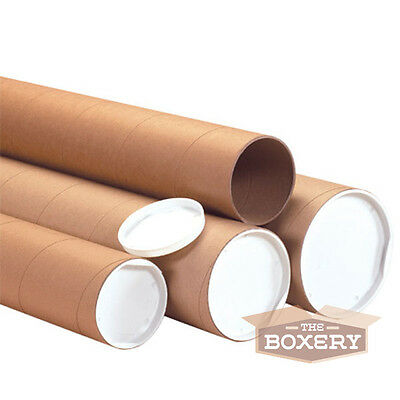 2x24'' Kraft Mailing Shipping Packing Tubes 50/cs from The Boxery
