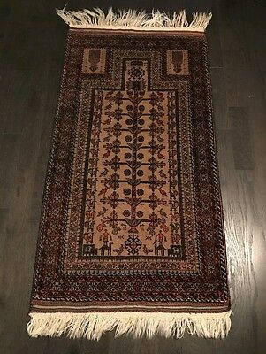 Vintage Hand Knotted Persian Rug (size : 78cm * 145cm) , 35-40 years old