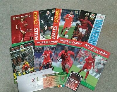 Selection of 8 Wales matchday programmes