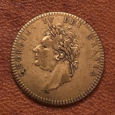 George Iv Brass Funeral Token Coin