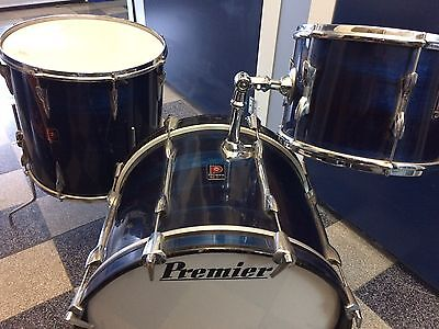 """Vintage Premier Drum Kit Shell Pack 20"""", 12"""", 16"""" Early 70's"""