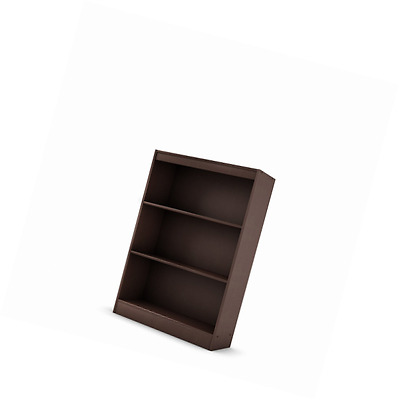 South Shore Furniture Axess Collection, 3-Shelf Bookcase, Chocolate