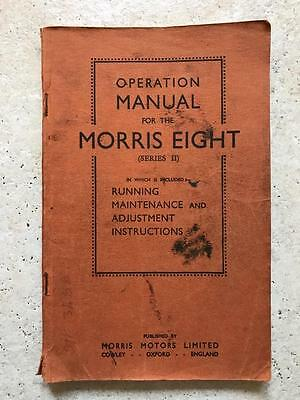 Original 1954 Morris Eight (series II) operation manual