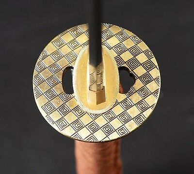 High quality Grid  sword Tsuba Alloy for Japanese Katana Tanto Wakizashi Knife