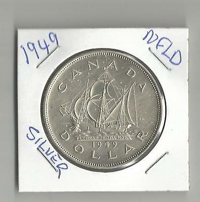 """1949 Silver Dollar From Canada  """" NFLD """""""