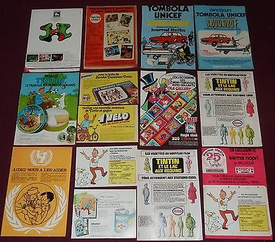 Lot Publicites Annees 60/70 Tintin Fromage Esso Unicef Boss Tee Shirt Journal