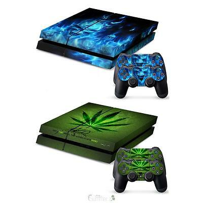 For PlayStation 4 PS4 Console & Controller Skin Vinyl Sticker Cover Protector