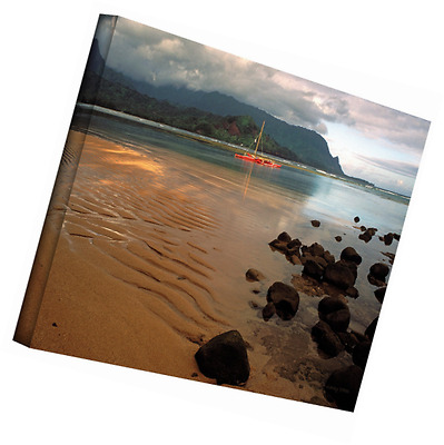 Art Wall Hanalei Bay at Dawn Gallery Wrapped Canvas by Kathy Yates, 32 by 48-Inc