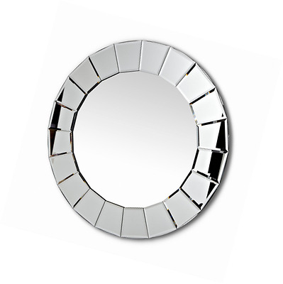 Abbott Collection Home 21-VISION/011 Round Fluted Border Wall Mirror