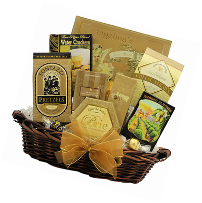 GreatArrivals Gift Baskets New Year's Delights: Gourmet New Year's Gift Basket,