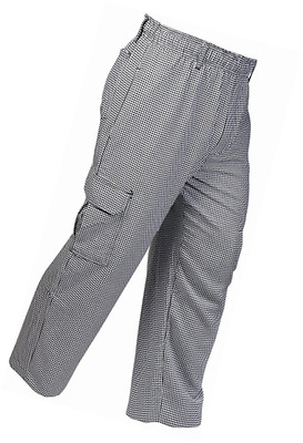 Mercer Culinary M61051HTM Genesis Unisex Chef Cargo Pant in Hounds Tooth, Medium