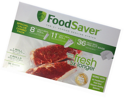 FoodSaver Combo Pack Vacumm Sealed Rolls and Bags