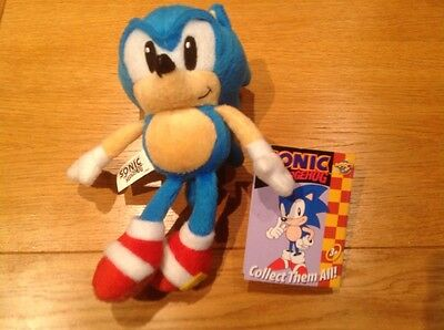 8 Inch Sonic The Hedgehog Soft Toy Impact Innovations  Rare Retro