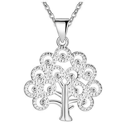 New products Fashion Jewelry 925 Silver fine gift Tree necklace Female Pendant
