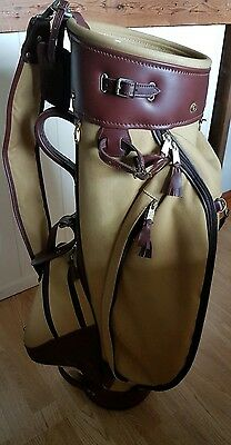 Canvas And Leather Laird  Golf Bag.