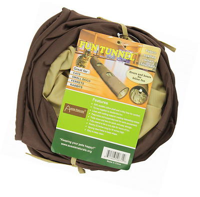 ABO Gear 10671 Fun Run Tunnel for Cats and Small Animals, Brown