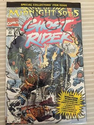 Ghost Rider #31  Nov 1992, Marvel The Midnight Sons Sealed Publisher Bag Poster