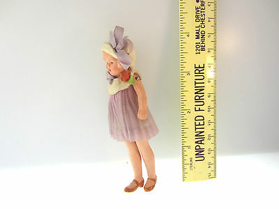 Rare Antique Miniature Dollhouse Doll Probably German Jointed Arms & Legs