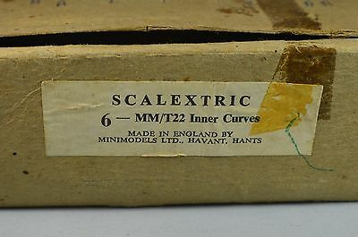 Scalextric T22 6 X Inner Curves. Early Brown  Box.