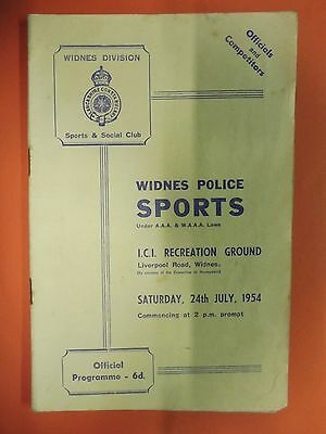 Widnes Police Sports & Social club Athletics meeting Widnes 24 july 1954