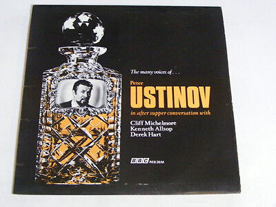 PETER USTINOV Many Voices N/Mint BBC UK 1969 LP