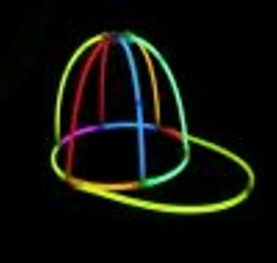 2 x MULTI-COLOR GLOW BASEBALL CAP HAT GLOW STICKS NIGHT PARTY  CAMPING HEN
