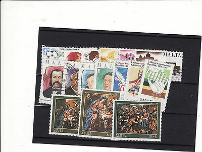 Malta - 1980S 5 Sets Used And Mounted Mint