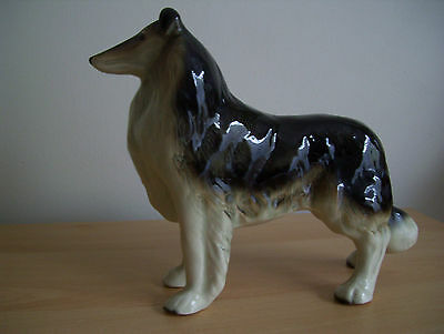 Vintage Long Haired Collie Figure
