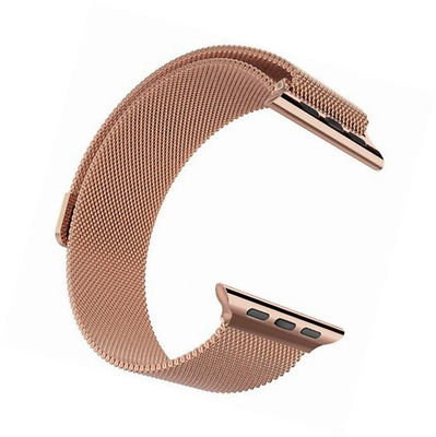 Apple Watch Band, Pandawell; Milanese Loop Rose Gold Stainless Steel Replacement