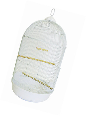 YML A1594 Bar Spacing Round Bird Cage, Large, White