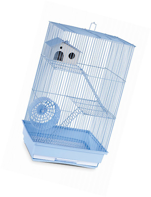 Prevue Hendryx Three Story Hamster and Gerbil Cage, Light Blue