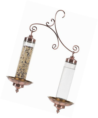 Perky-Pet 369 Birdscapes Copper Sip and Seed Feeder