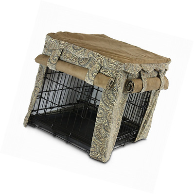 Snoozer 82641 Large Cabana Pet Crate Cover, Sicilly/Coffee