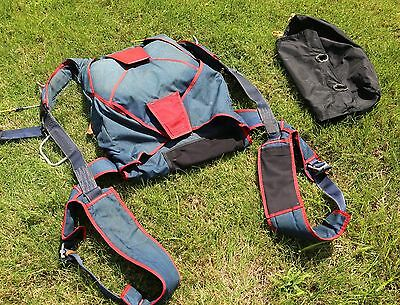 Vector skydiving parachute rig + Cirrus 230 reserve - fits very large mains