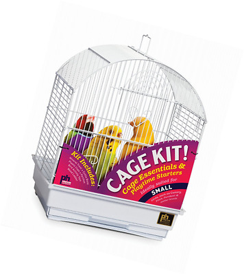 Prevue Pet Products Round Roof Bird Cage Kit, White