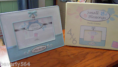 Small Blessings Baby Boy Baptism Photo Frame By Russ Berrie 4 X 6