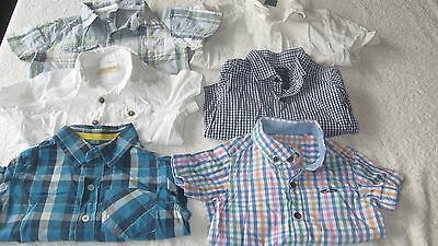 9-12 months 6x SHIRT BUNDLE All 100% Next Top Baby Boys Checked Check White