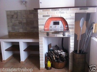 Original Pizza Party 70x70 Red portable wood fired oven - Outdoor and indoor use