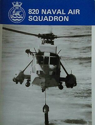 Royal Navy Public relations Leaflet. 820 Naval Air Squadron.