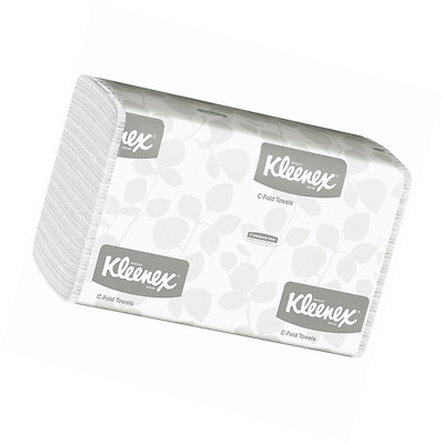 Kleenex C Fold Paper Towels (01500), Absorbent, White, 16 Packs / Case, 150 C-Fo