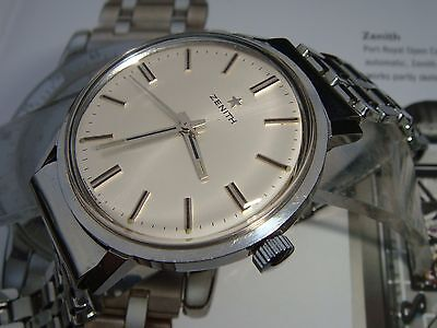 Zenith 2542 1960s oversized mens stainless steel vintage watch collector grade