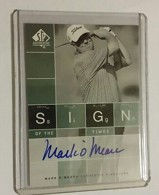 Mark O'Meara - 2002 Upper Deck SP Authentic Sign of the Times Auto