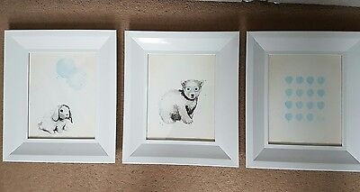 3 framed nursery prints